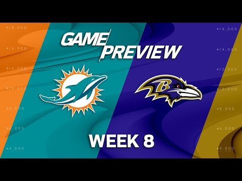 Miami Dolphins vs. Baltimore Ravens | Week 8 Game Preview | NFL Playbook