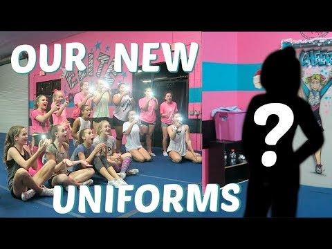 REVEALING OUR NEW CHEER UNIFORMS | Vlogmas Day 7