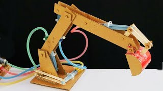 Hydraulic JCB From Cardboard at Home