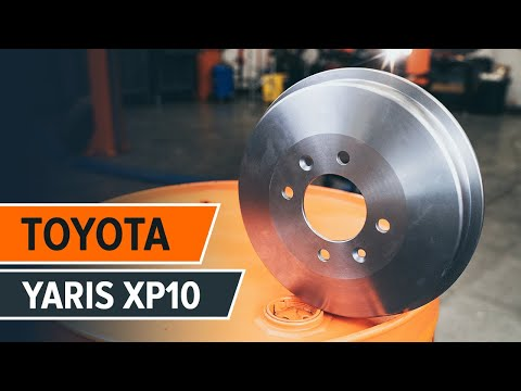 How to replace rear brake drums and rear brake pads onTOYOTA YARIS XP10 TUTORIAL | AUTODOC