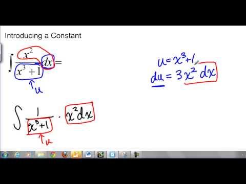 U-Sub: Introducing a Constant
