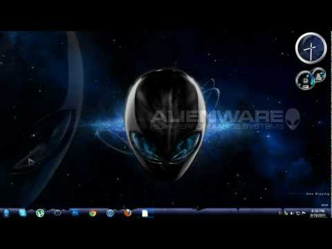 AlienWare Broken Windows 7 Theme