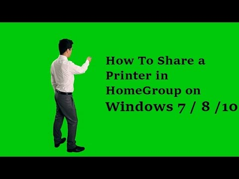 How To Share a Printer in  HomeGroup on Windows 7 windows 8 windows 10