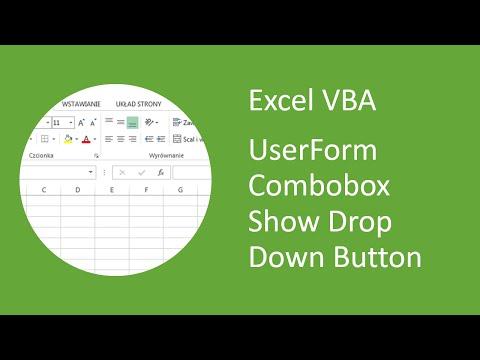 Excel VBA UserForm Combobox Show Drop Down Button When Focus