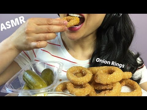 ASMR Fried Onion Rings (Cooking + Eating Sounds) | SAS-ASMR
