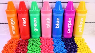 Best Learn Colors with Gumballs, M\u0026M's Candies Jumbo Crayon \u0026 Toy Surprises