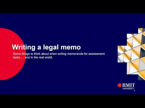 Writing a Legal Memo