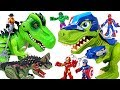 Minions Were Capture By Dinosaur Marvel Avengers Spider Man Police Dinosaur Go DuDuPopTOY