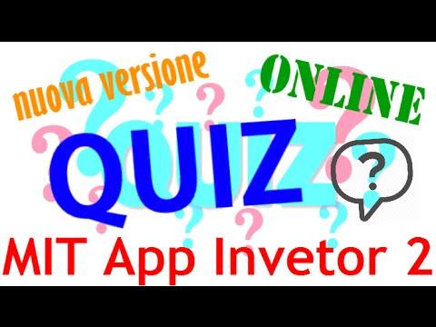 MIT App Inventor 2 ITA# Tutorial 90 NUOVO Quiz Online (pt 1)