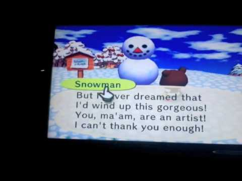 Animal Crossing: Snowman
