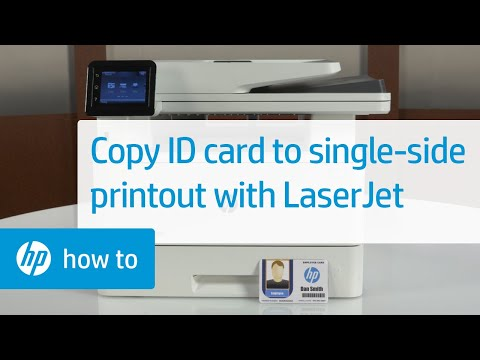 How to Copy ID Cards to a Single-Sided Printout on HP LaserJet Pro MFPs