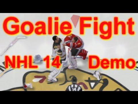 NHL 14 Demo | Goalie Fight - Rask vs Crawford