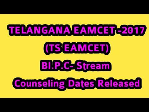 Telangana Bi.p.c Eamcet 2017 counseling dates
