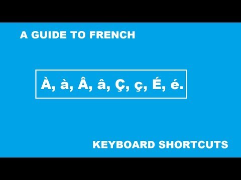 How to Enable French Keyboard + the keyboard shortcuts thereafter.