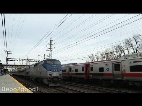 Metro-North/Amtrak/SLE: Afternoon Trains in Noroton Heights, CT RR