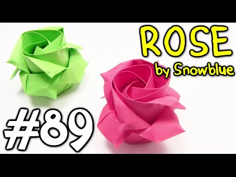 Cool Origami ROSE easy origami - Yakomoga Origami tutorial