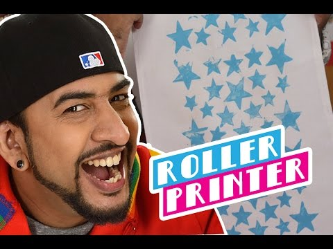 Mad Stuff with Rob – How to make a Roller Printer | DIY Craft for Children