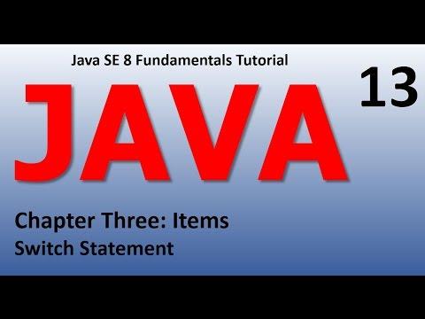 Java Switch Statement Epi 13