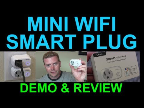 Mini Wifi Smart Plug Outlet Alexa Echo Google Home Assistant IFTTT by Oittm Review Demo