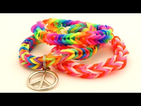 How To Make a Fishtail Loom Bracelet - Easy Rainbow Loom Bands Tutorial