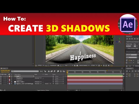 How To: Create 3D Shadows in Adobe After Effects