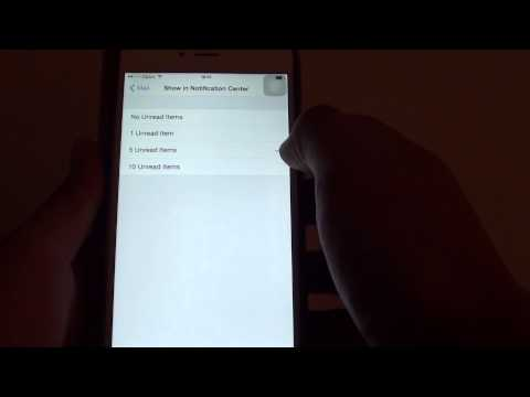 iPhone 6 Plus: How to Change Number of Email Messages Display in Notification Center