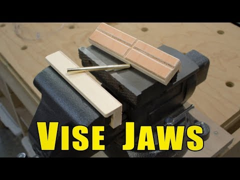Ⓕ Leather Vise Jaws - Soft Jaws to Protect Marring Your Projects (ep81)
