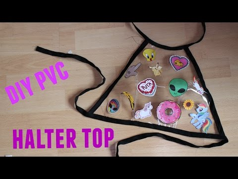 Diy Pvc Sticker Halter Top | Fake it to make it #4