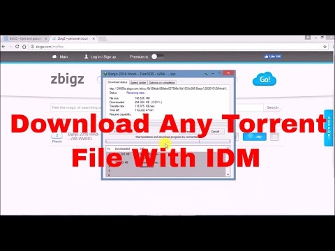 How To Download Any Torrent File Easily With IDM