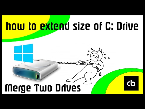 Extend Size of Your C Drive Windows 7/8/8.1/10 | Merge Two Partitions