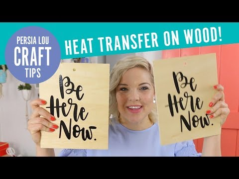 Silhouette vs. Cricut: How to Use Heat Transfer Vinyl on Wood