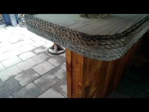 10 x 10 tiki bar bar top rehab video 1