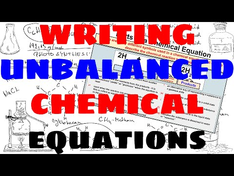How to Write Unbalanced Chemical Equations