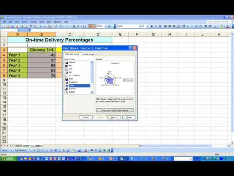 How to...Draw a Polar Diagram in Excel 2003