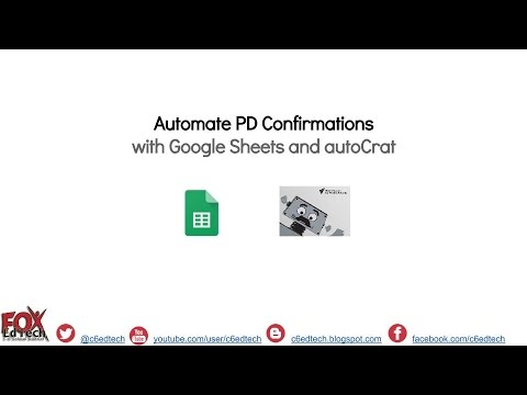 Automate PD Request Confirmations with Google Sheets and autoCrat v3