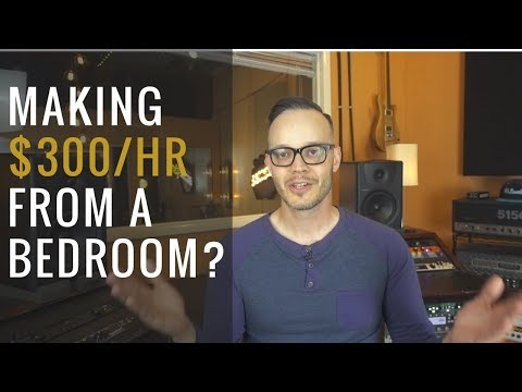 How I Make Over $300/hr From My Home Recording Studio