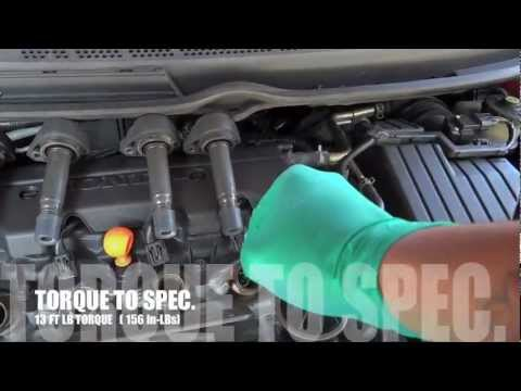 How to Change Spark Plugs on a 2006 Honda Civic l.8L