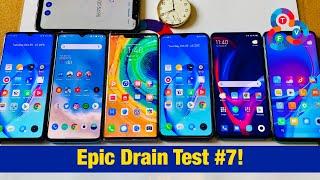 Realme X2 Pro vs OnePlus 7T vs Mate 30 Pro vs Realme X2 vs Mi 9T Pro vs Note 8 Pro - Drain Test #7!