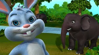 The Clever Rabbit and the Elephant Kahaniya | Hindi Stories for Children | Infobells
