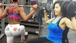 Sambhavna Seth HOT Intense Workout Video