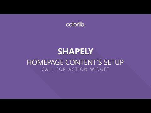 How to Setup Call For Action Section For Shapely Theme [Homepage Setup]