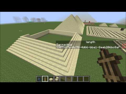 Minecraft Commandblock Creation: Pyramid Generation