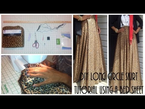 Nadira037 | DIY| Long Circle Skirt Tutorial Part 1 | Using a Bed Sheet