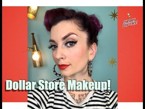 Dollar Store Makeup: Full Face Under $15! by CHERRY DOLLFACE