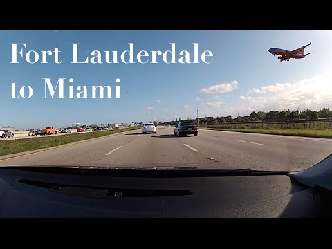 Driving from Fort Lauderdale to Miami
