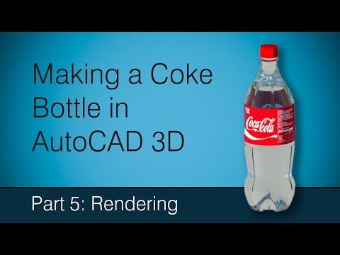 Making a Coke bottle in AutoCAD: Part 5 Rendering
