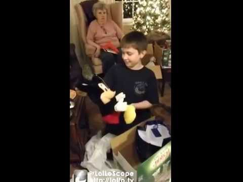 10 year old gets best Christmas present, everyone cries including Grandma. Watch his reaction...