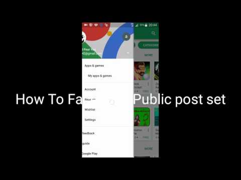How To Change Facebook public post