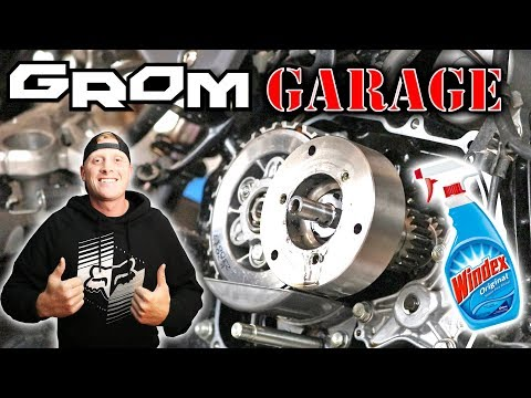 Honda Grom FIRST Service | BEST TUTORIAL!! | How To Clean Oil Spinner