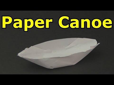 How to Make a Paper Boat / Canoe